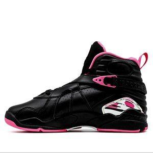 NEW Air Jordan 8 Retro Pinksicle GS Pink & Black